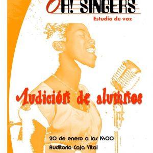 Audición de alumnos Oh Singers en el auditorio Caja Vital