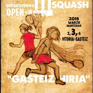 2 de Marzo presentación 3 Open femenino Squash en Dendaraba 2018